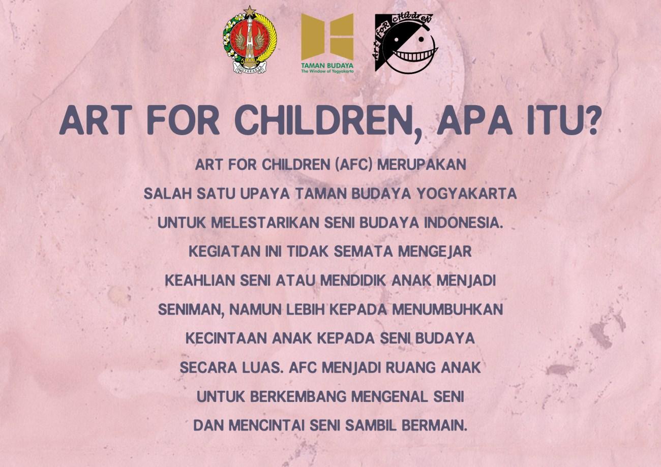 Warta TBY - Art for Children Taman Budaya Yogyakarta 2019